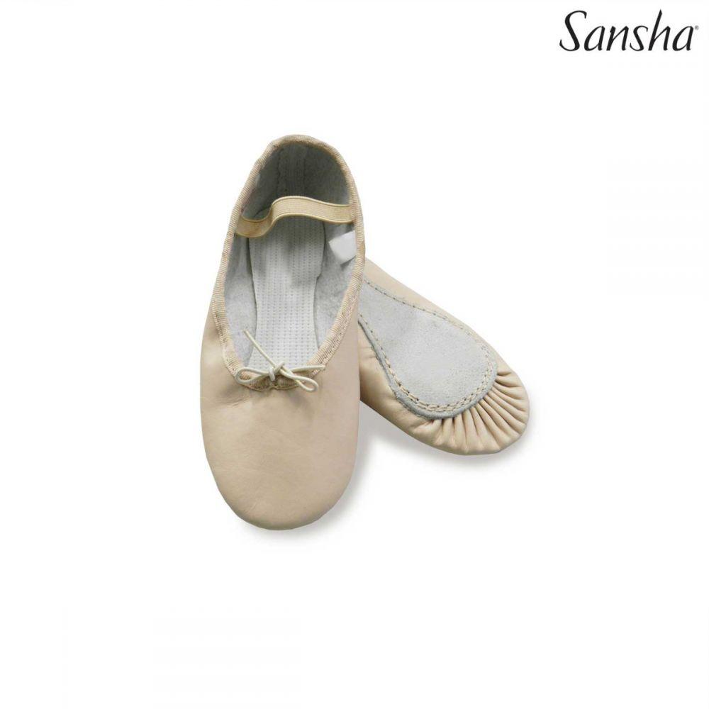 LaClass scarpetta per bambine mezza punta Sansha  in vera pelle