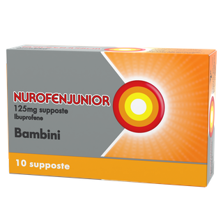 NUROFENJUNIOR ANTIFIAMMATORIO 125 MG-10 SUPPOSTE BAMBINI