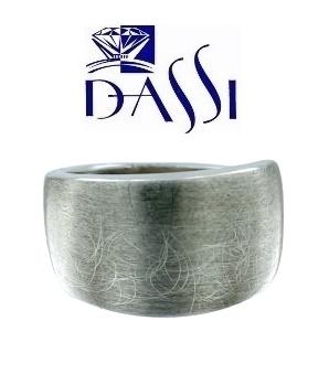 Anello in argento spazzolato circolare 925. Con bordo lucido o  spazzolato