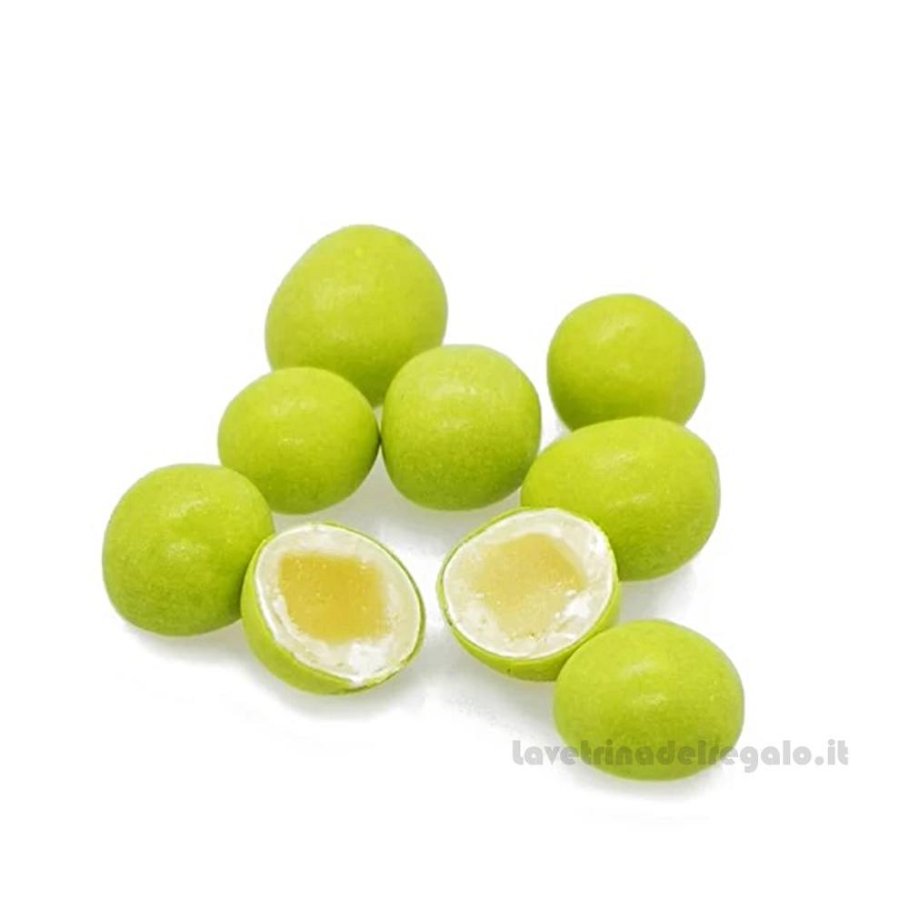 Confetti verdi Cuori di fata cedro e cioccolato bianco 1Kg William Di Carlo Sulmona - Italy