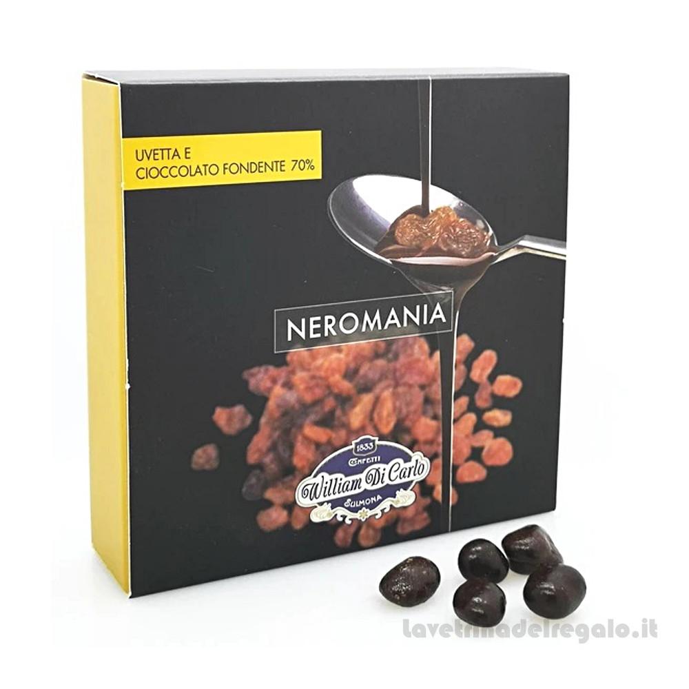 Confetti Neromania uvetta e cacao fondente 120gr/1Kg William Di Carlo Sulmona - Italy