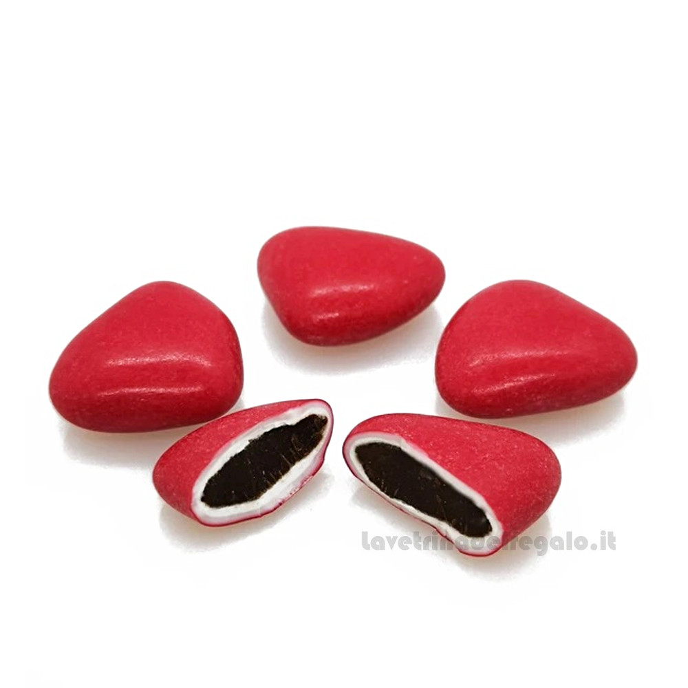Confetti rossi Fondente Cuore al cioccolato 500gr/1Kg William Di Carlo Sulmona - Italy