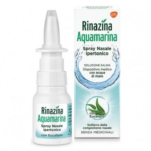 Rinazina Aquamarina Spray nasale ipertonico + Eucalipto - 20 ml  spray