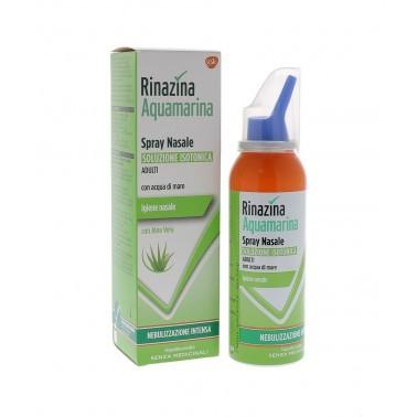 Rinazina aquamarina spray nasale nebuilizzazione intensa aloe 100 ml