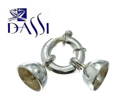Chiusura per collana di perle o pietre in argento