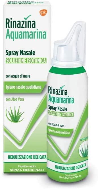 Rinazina Aquamarina Isotonica Aloe Spray Nebulizzazione Intensa 100 Ml