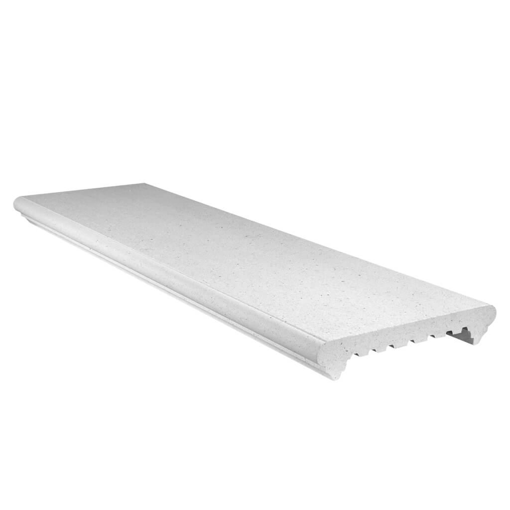 Imer coprimuro elite in cemento levigato bianco 27cm(larghezza interna)x100cm