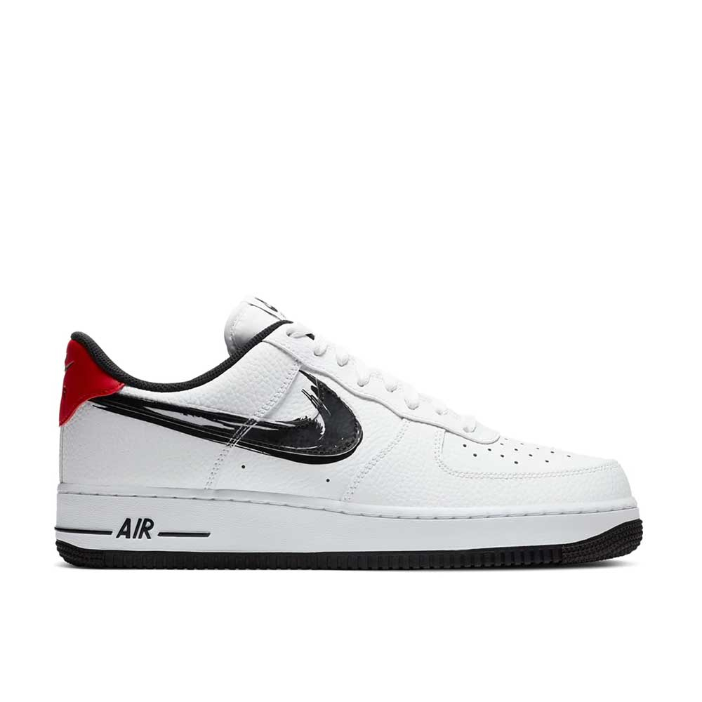 Nike Air Force 1 '07 LV8 Black White Red da Uomo