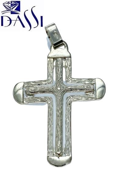 Ciondolo a croce in argento 925 composta da due croci