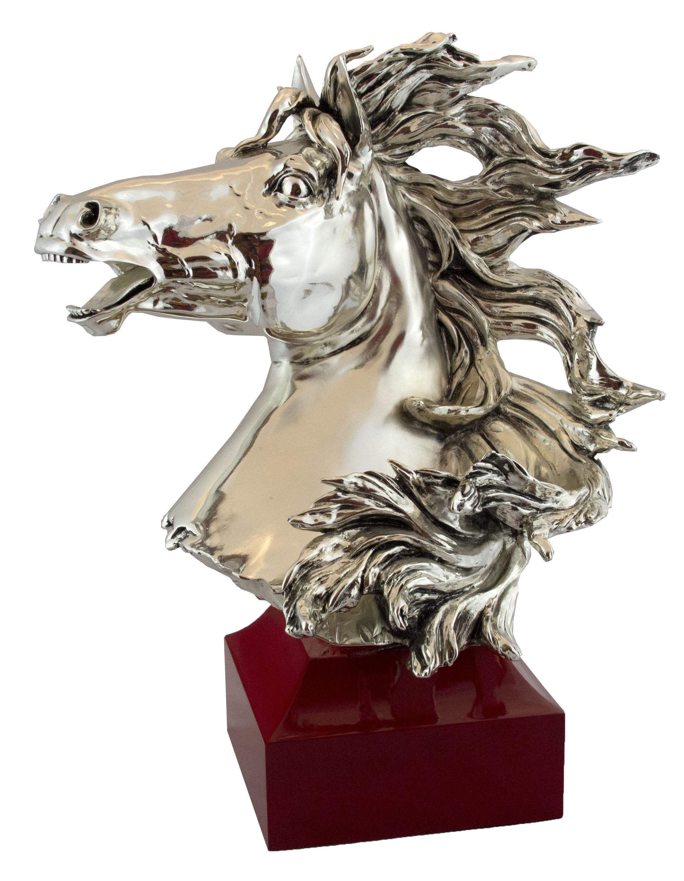 Horse Emblem on Red Base