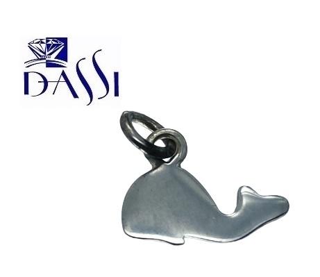Ciondolo a forma di balena in argento 925 Dimensioni 1.40 x 1.00 cm