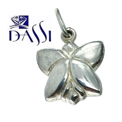 Ciondolo a forma di farfalla double face in argento 925.