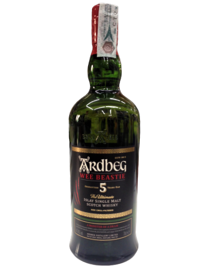 Whisky Ardbeg Wee Beastie 5 anni - Islay Single Malt Scotch Whisky - Ardbeg Distillery