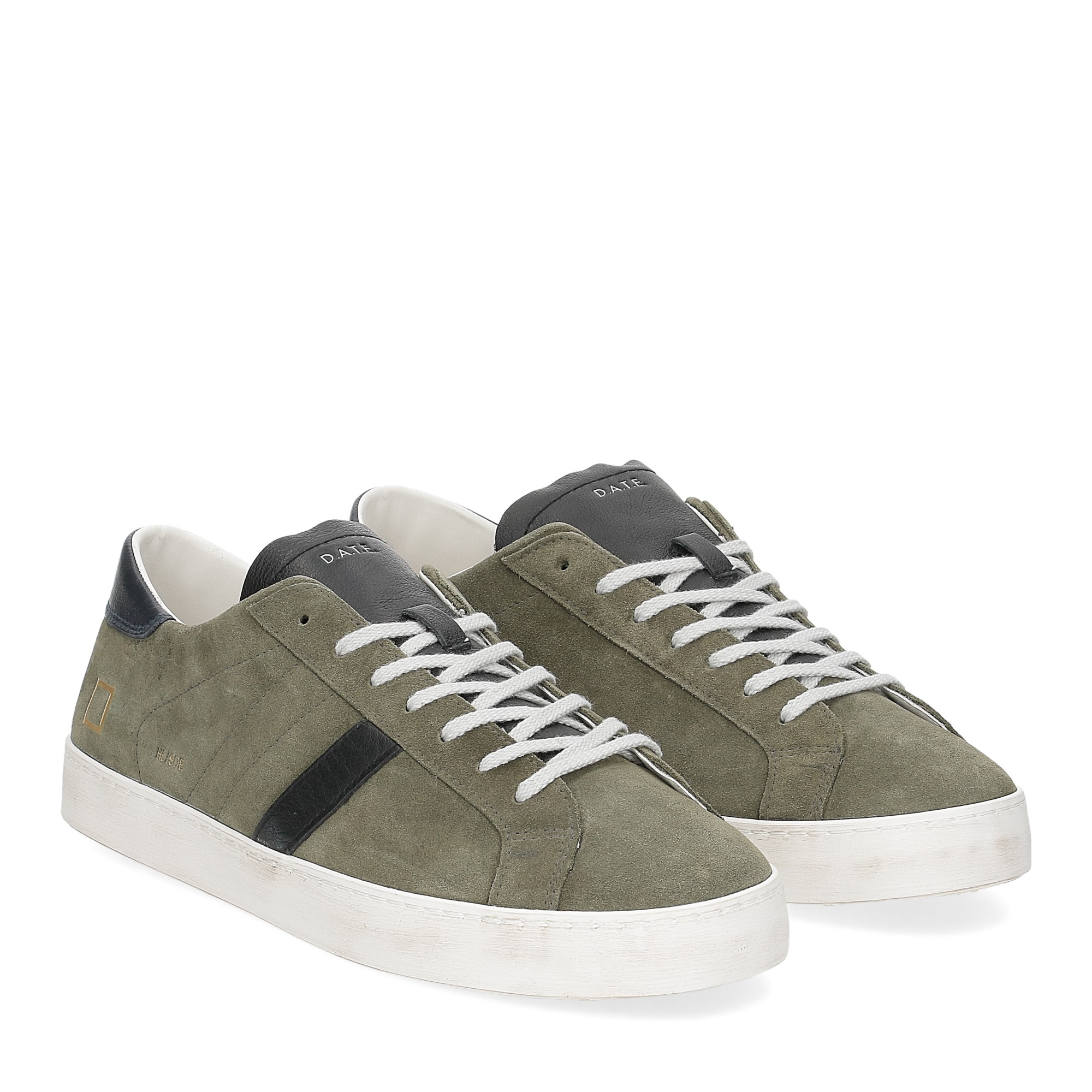 D.A.T.E. Hill low suede army