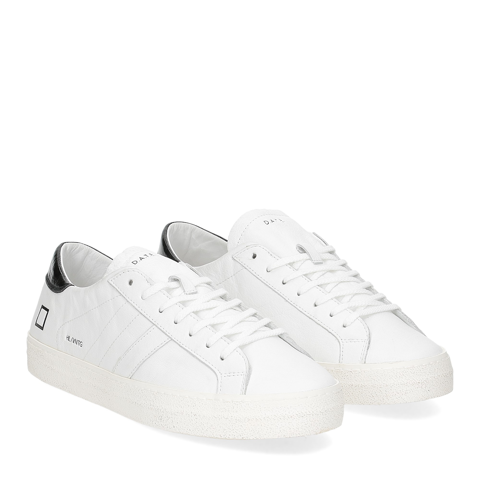 D.A.T.E. Hill low vintage calf white black