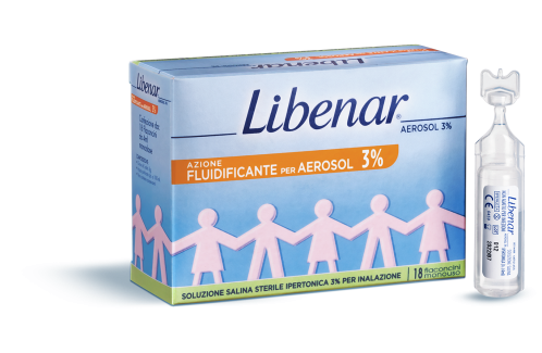 Libenar 18 Flaconcini Aerosol Ipertoniche 3%