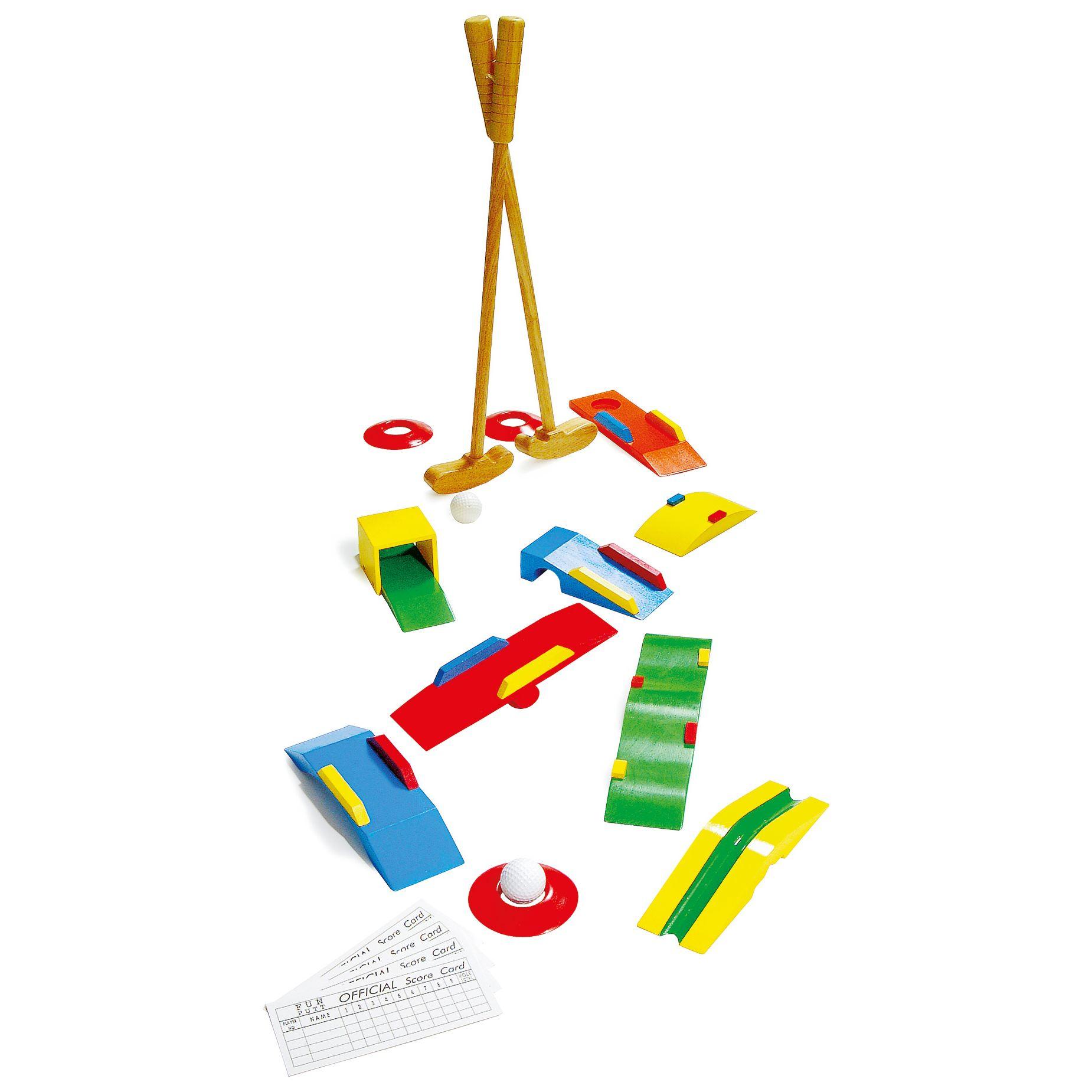 Set Minigolf in legno gioco per bambini