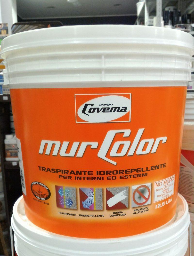 Covema Murcolor 12,5 lt  pittura idrorepellente traspirante bianca per interni/esterni