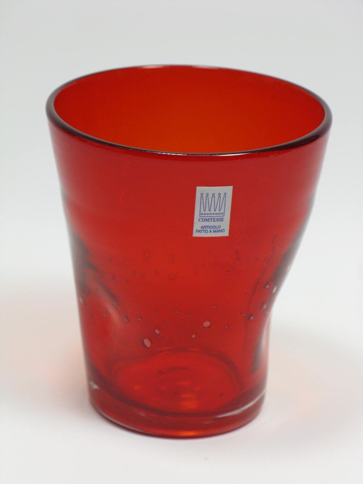 Bicchieri colorati con bolle Samoa Rosso
