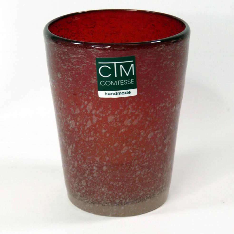 Bicchieri colorati con bollicine Tonga Rosso