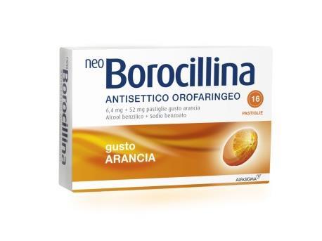 NeoBorocillina Antisettico Orofaringeo 6,4 mg + 52 mg - Miele e Limone 16 Pastiglie