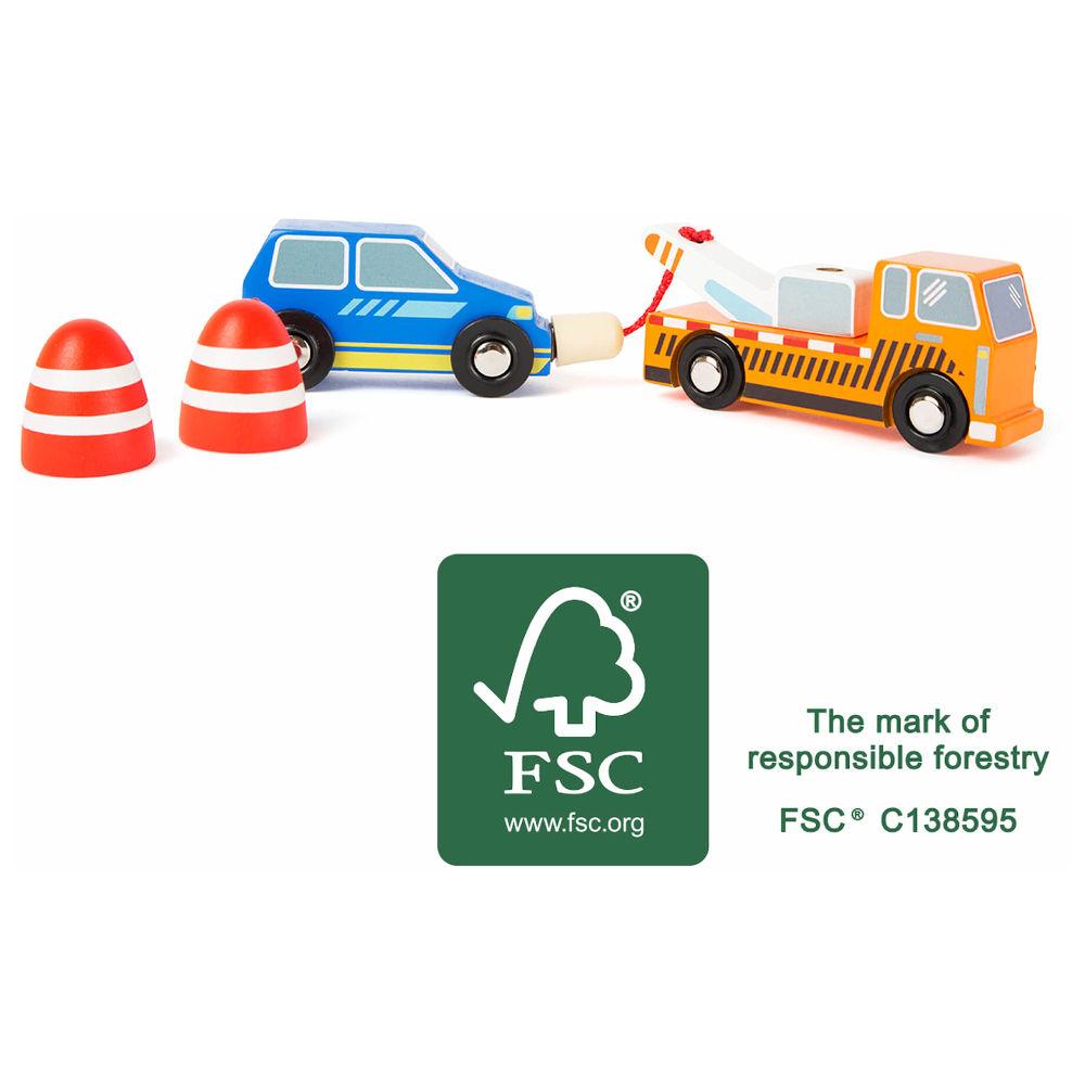 Set Servizio di rimozione stradale Accessori trenino legno Small Foot World