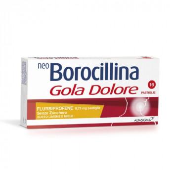 NeoBorocillina Gola Dolore 8,75 mg - 16 pastiglie senza zucchero-gusto limone e miele