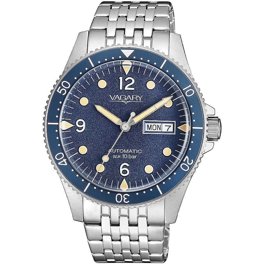 Vagary G.Matic Aqua 105th, cassa e bracciale acciaio, blu