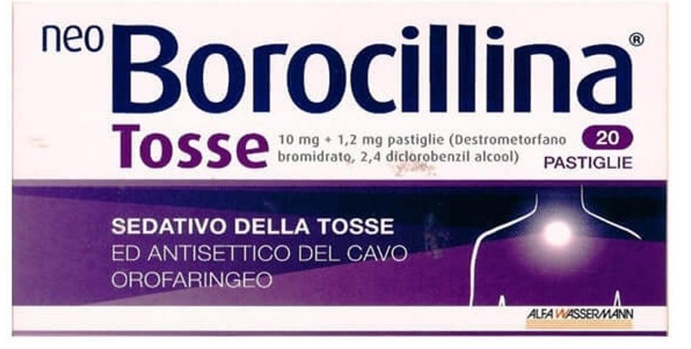 NeoBorocillina Tosse 10 mg + 1,2 mg - 20 compresse