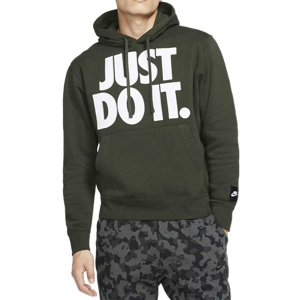 Nike Felpa Just Do It Olive Green da Uomo