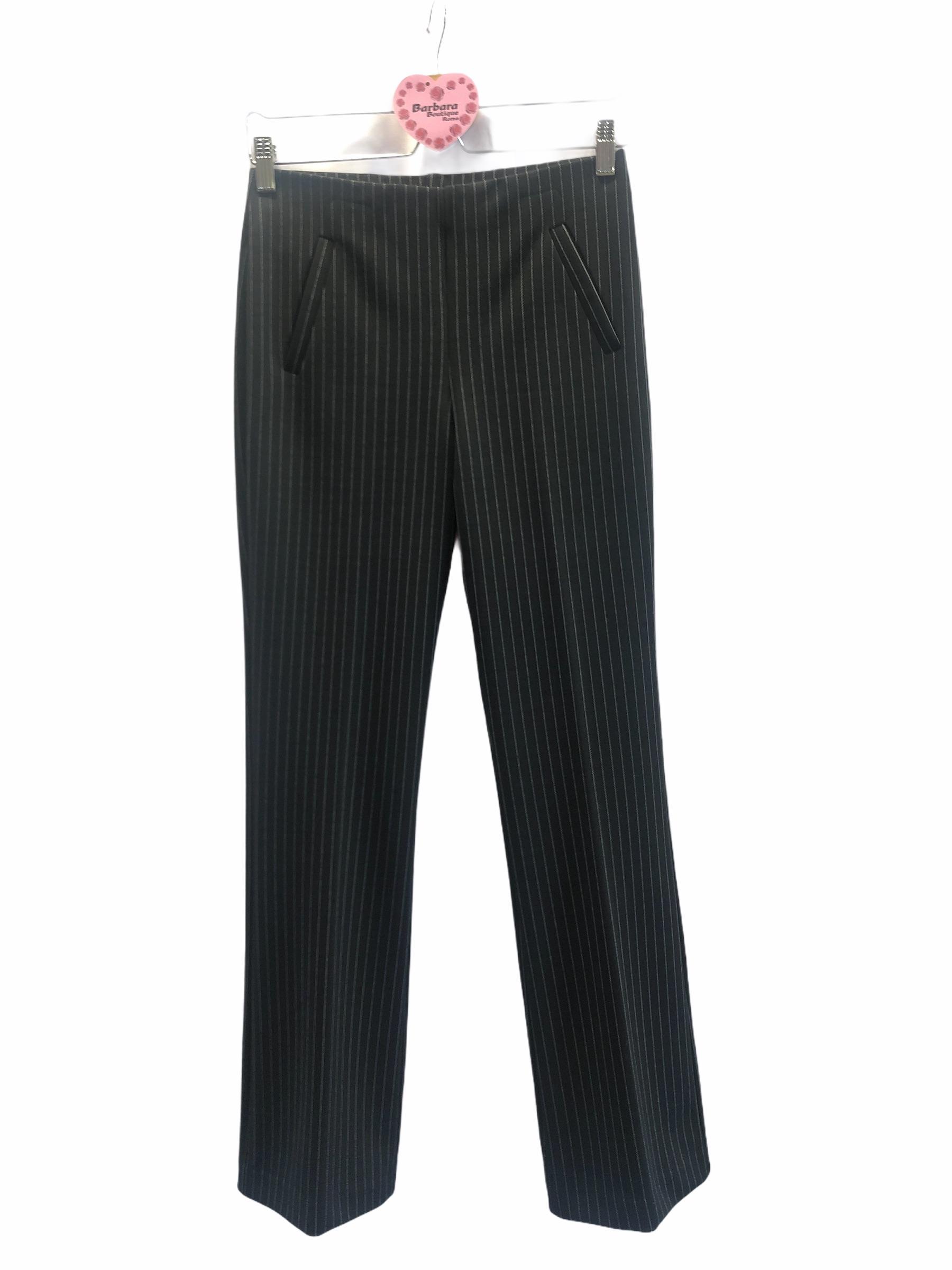 Pantalone gessato flared