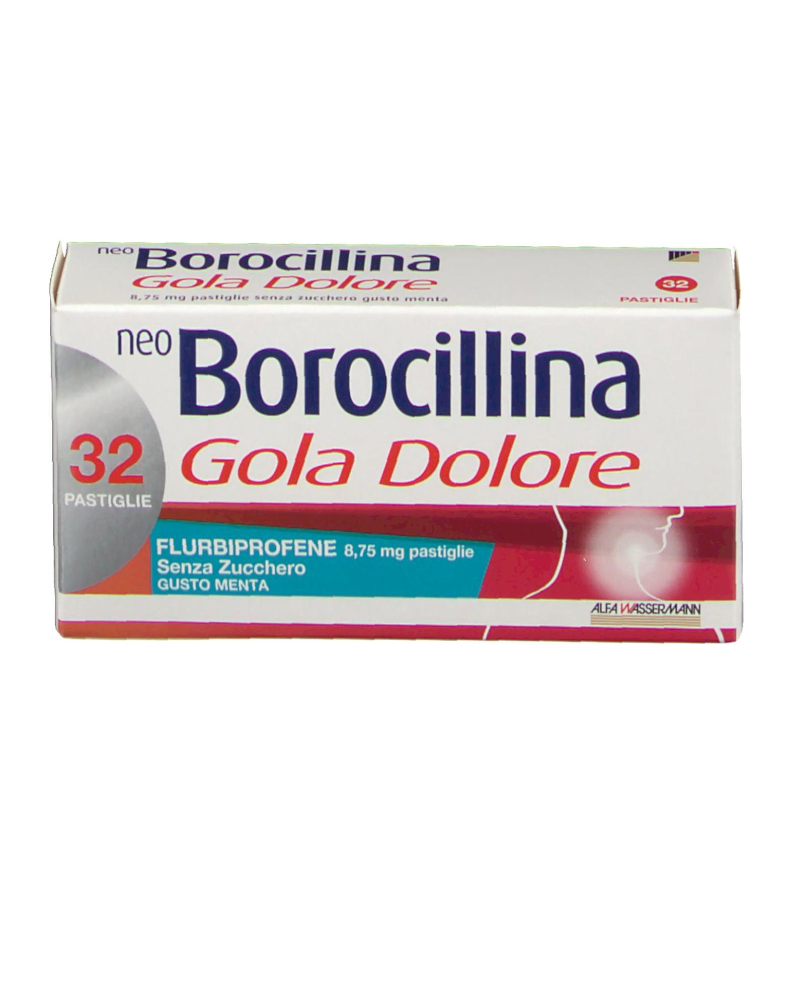 NeoBorocillina Gola Dolore 8,75 mg - 32 pastiglie senza zucchero-Gusto Menta