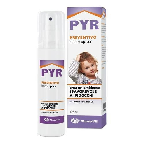 LOZIONE PREVENTIVA PIDOCCHI SPRAY 125 ML CON LAVANDA - TEA TREE OIL CREA UN AMBIENTE SFAVOREVOLE Al PIDOCCHI. GRADEVOLMENTE PROFUMATA, NON UNGE. LASCIA I CAPELLI MORBIDI. NON LI FA ANNODARE