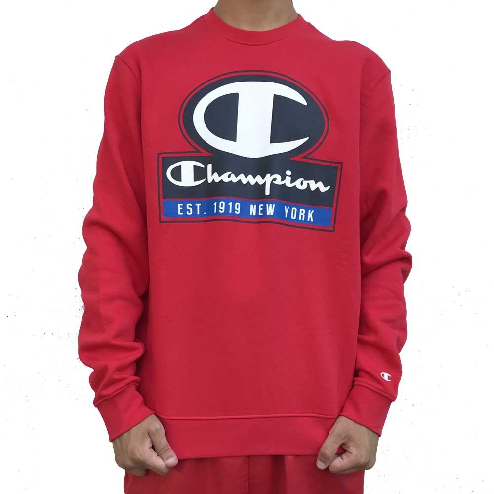 Felpa Chapion Red Logo da Uomo