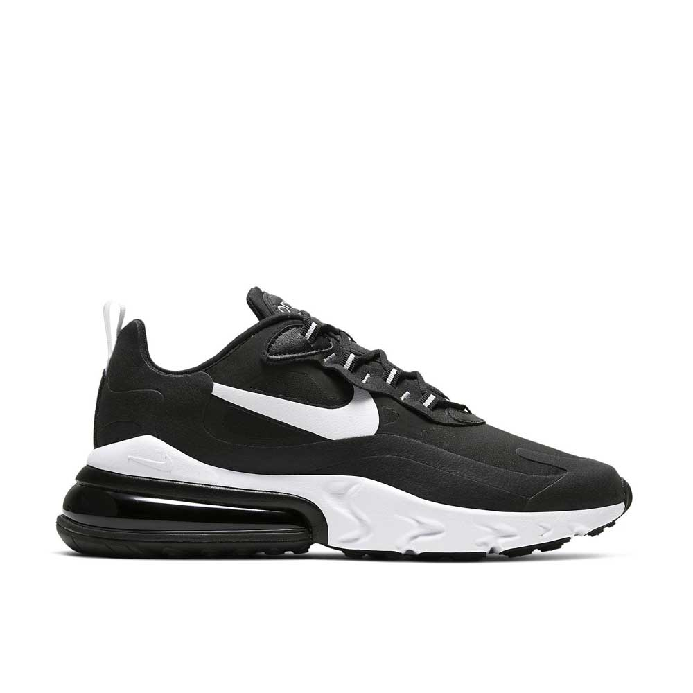 Nike Air Max 270 React Black White da Uomo