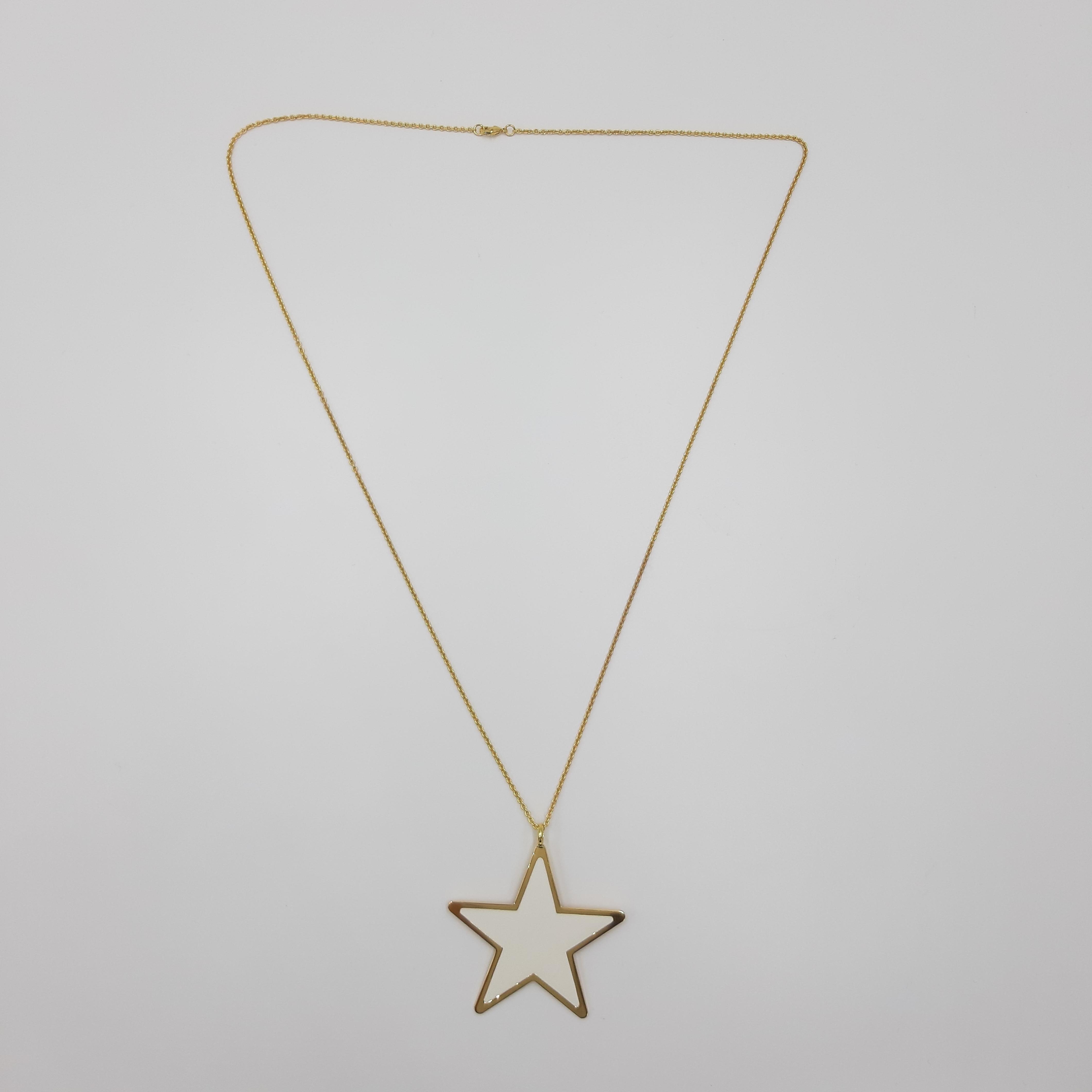 Collana lunga stella bianca Francesca Bianchi Design