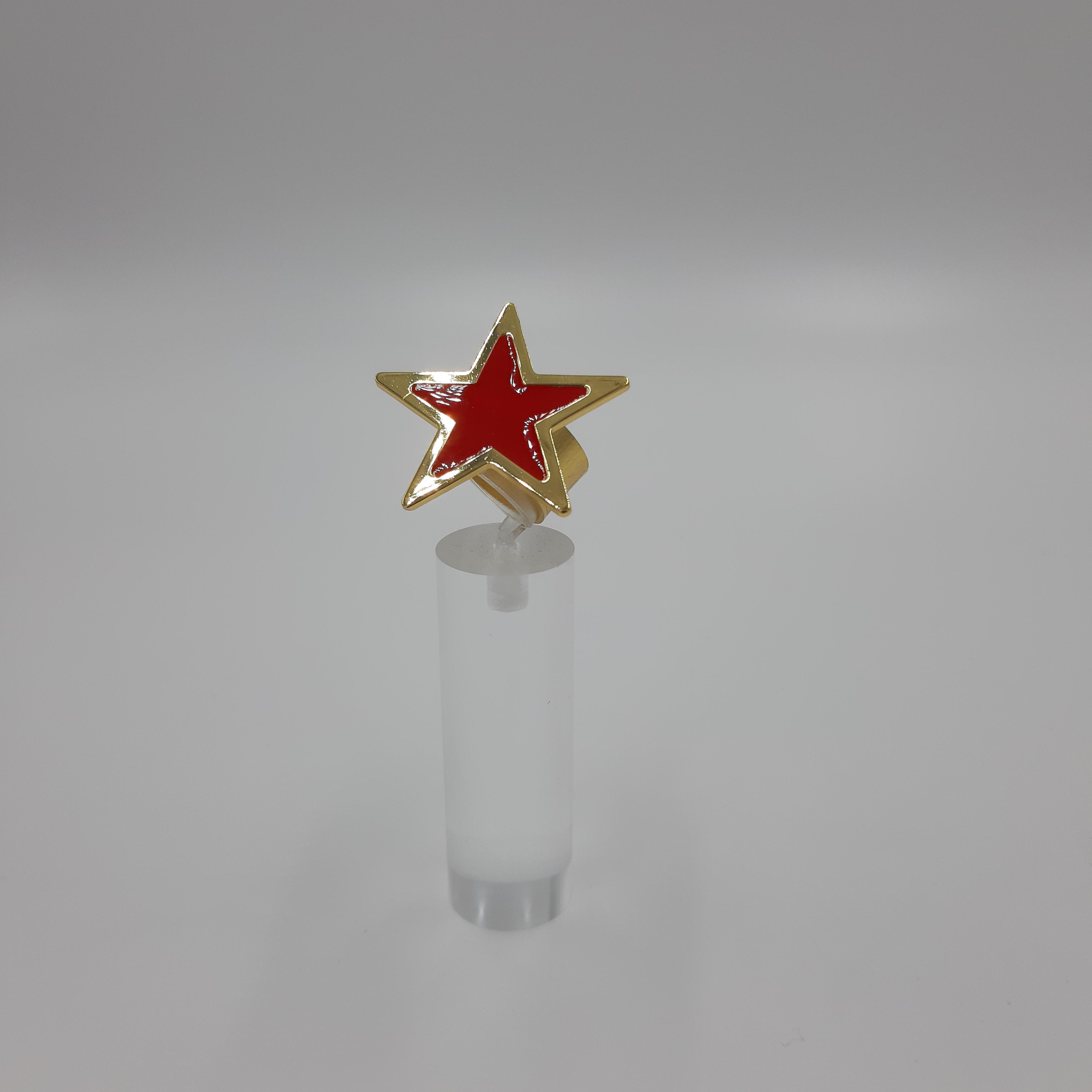 Anello stella rosso Francesca Bianchi Design