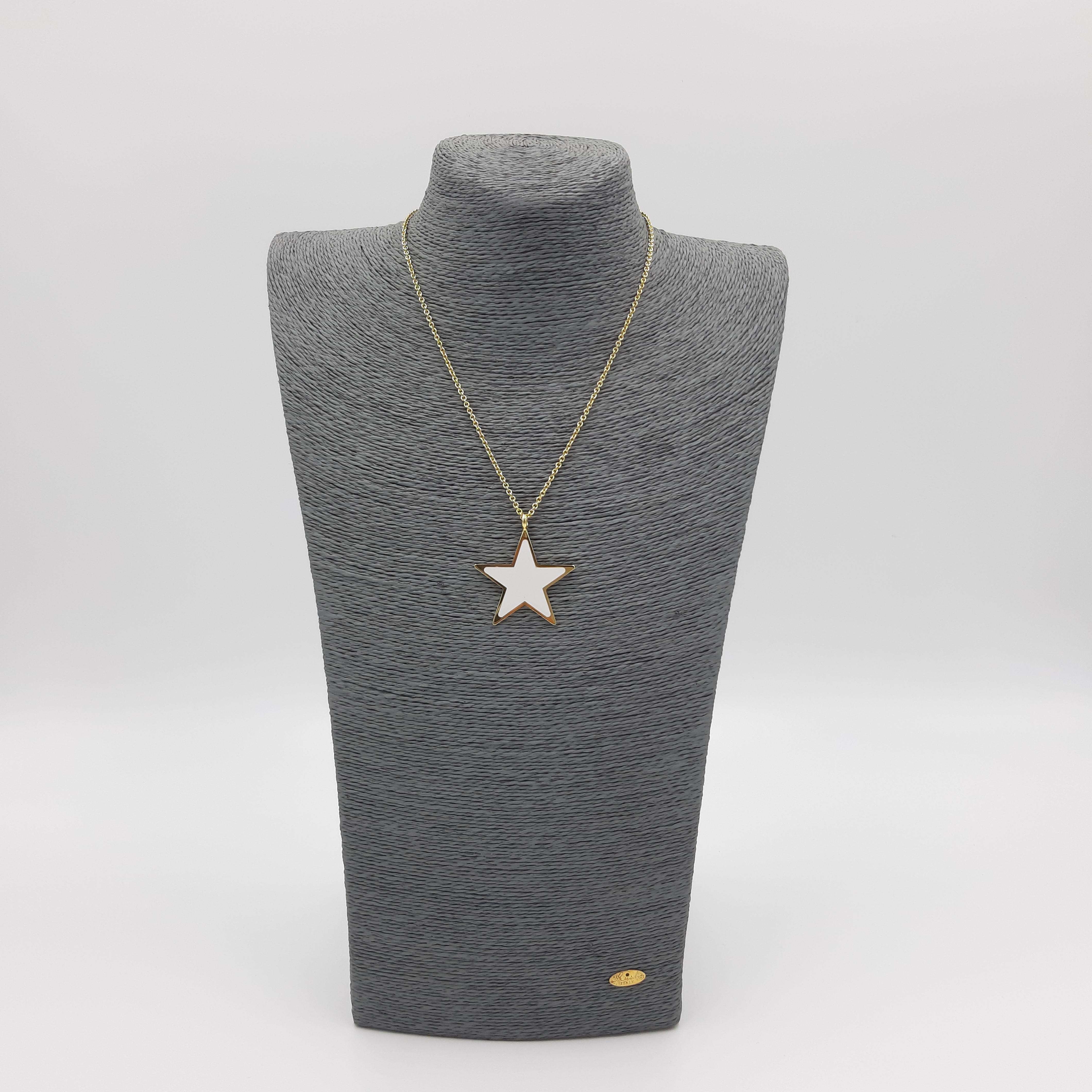 Collana con stella bianca Francesca Bianchi Design
