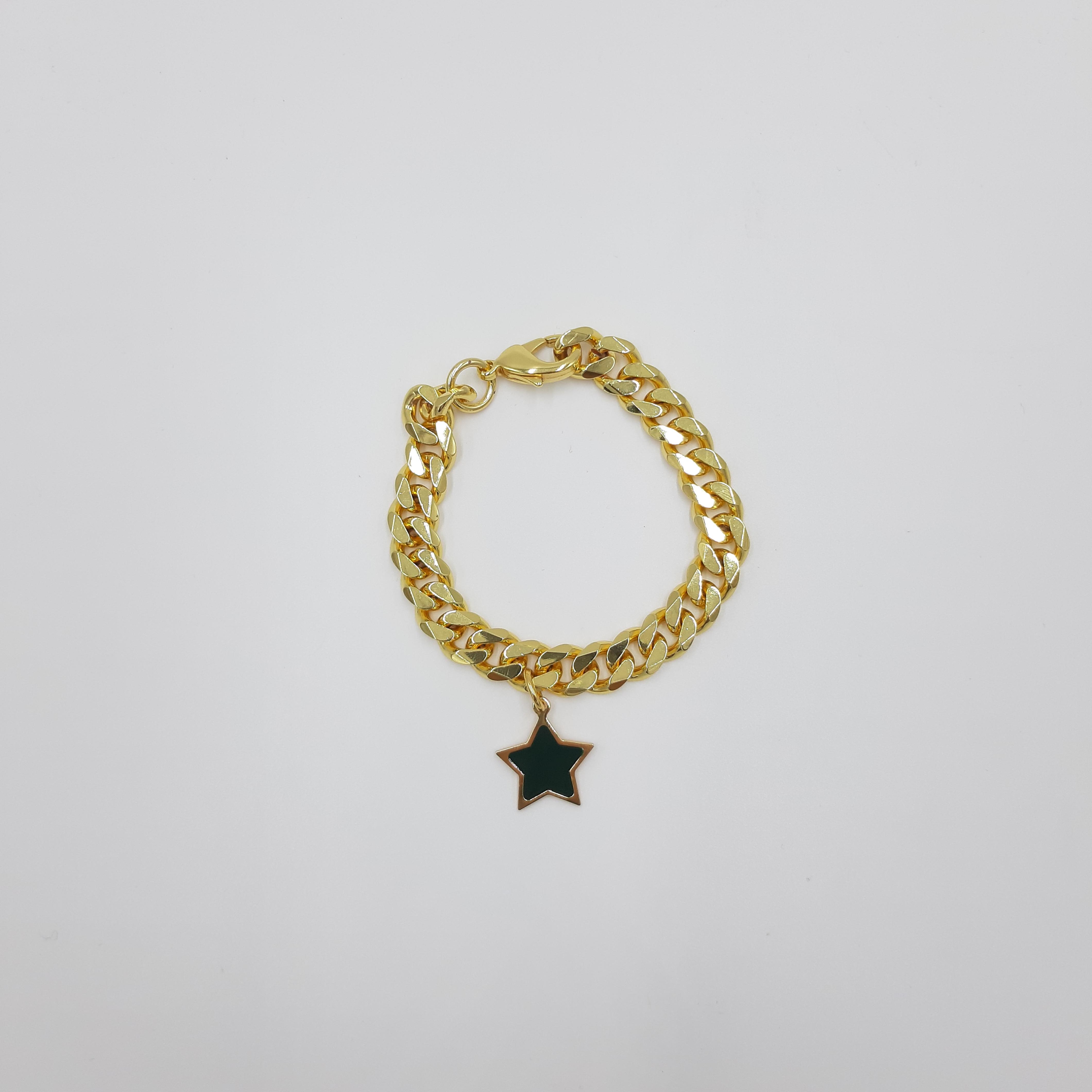 Bracciale oro con stella nera Francesca Bianchi Design