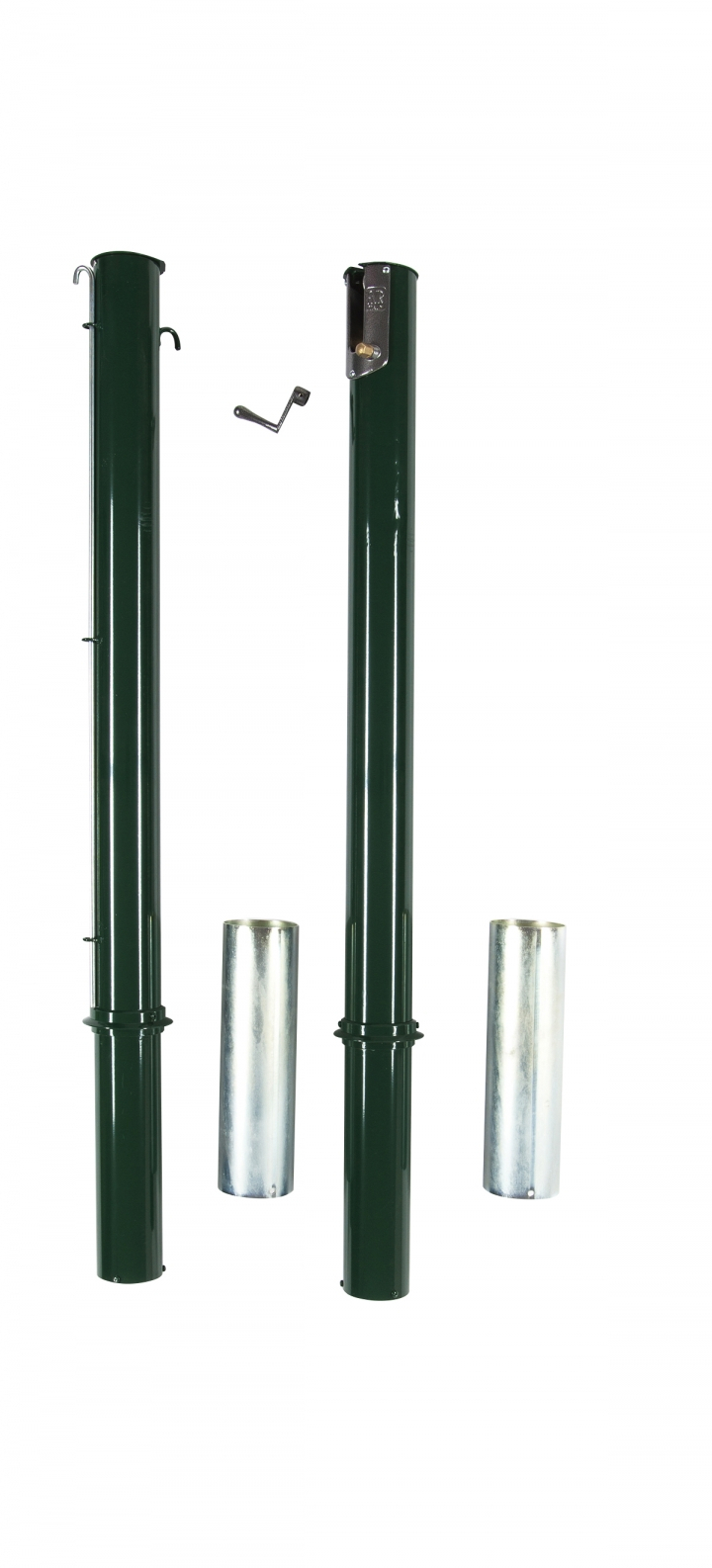 Round support posts for tennis nets