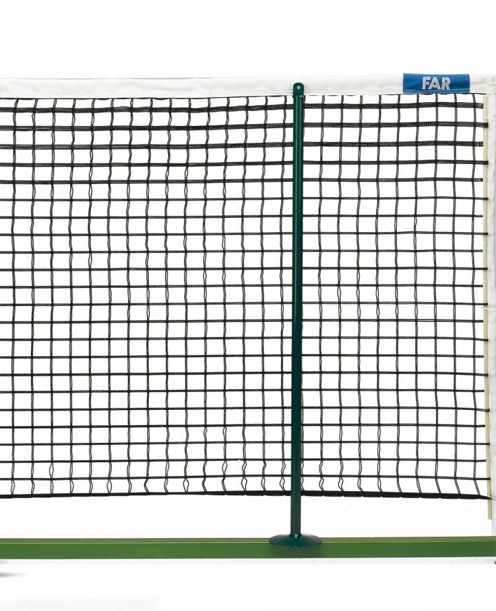 Mobile poles for single tennis