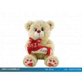FGF Orso Con Caramella LOVE Colorato In Peluche San Valentino Romantico