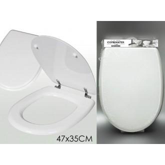 Copriwater Colore Bianco Fissabile 47x35 Cm Per Sanitari Accessori Bagno Pulizia