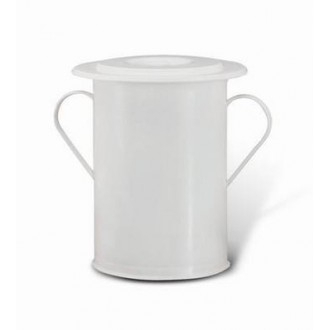 Vasone Bianco In Plastica Comodo Resistente Con Manici Coperchio Sanitario Casa Utensili Sanitari Utili