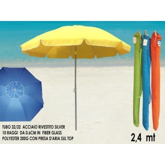 Ombrellone Da Spiaggia 240 cm Con Fodera Facile Da Richiudere Colorato Disponibile in Varie Colorazioni Spiaggia Mare