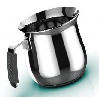 Master Casa Dolcevita Lattiera Con Manico Nero 6 Tazze Cucina Utile Colazione in Acciaio