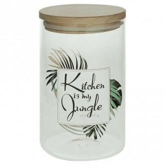 Tognana Barattolo Jungle Medio 10x17cm Per Zucchero Caffè Sale Decorare Casa Tema Tropicale