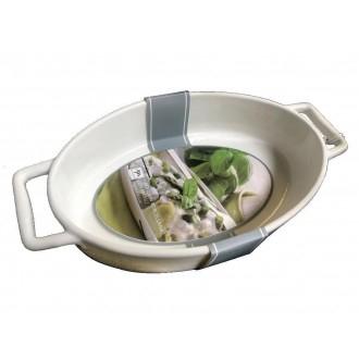 Mercury Pirofila 27,5x15x6.5cm con Manico Color Panna Cucina Funzionale Casa