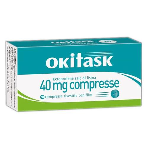 Okitask 20 compresse da 40mg-ketoprofene sale di lisina
