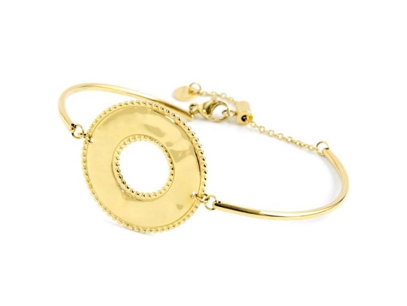 Marlù Collana Vision, pendente tondo Gold